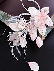 cheap -Tulle Fabric Silk Net Flowers Hair Clip Headpiece Elegant Style