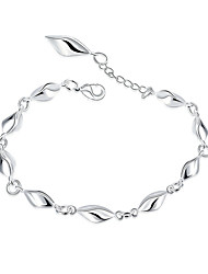 cheap -Women's Crystal Geometric Chain Bracelet - Silver Plated Friends, Flower Geometric, Rock, Fashion Bracelet Silver For Wedding / Party / Birthday