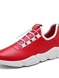 cheap -Men's Athletic Shoes Comfort Light Soles Spring Fall Breathable Mesh Net Tulle PU Track & Field Shoes Athletic Outdoor Lace-up Flat Heel