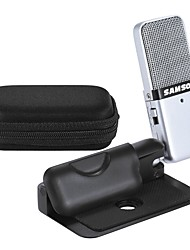 cheap -Samson GO Mic Mini Portable Recording Condenser Microphone Clip-on Design with USB Cable Carrying Case for Computer NoteBook Tablet PC