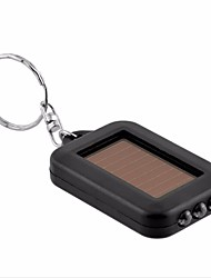 Mini Portable Solar Power 3LED Light Keychain Torch Flashlight Key Ring Gift Rechargeable Useful Ramdon Color