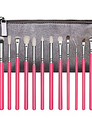 cheap -24pcs Black Makeup Brush Set Pink Blush Brush Eyeshadow Brush Concealer Brush Powder Brush Foundation Brush Synthetic HairProfessional