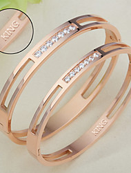 Titanium bracelet CNC diamond diamond bracelet lovers Korean pop jewelry gift for Valentine's Day