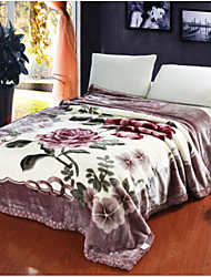 cheap -Flannel, Printed Flower Cotton Blankets