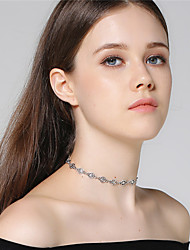 Women's Choker Necklaces Star Alloy Fashion Personalized Handmade Simple Style Jewelry For Birthday Graduation Gift Daily Casual Evening