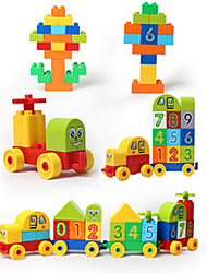cheap -Building Blocks Toys Tower Famous buildings House Architecture ABS Wood Children's Pieces