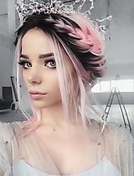uniwigs caldo amichevole fibra sintetica in pizzo davanti diretto parrucca ombre colore medio lunghezza capelli parrucca acconciatura