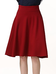 cheap -Women's Club Going out Holiday Swing A Line Skirts - Solid Colored