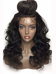 cheap -Human Hair Lace Front Wig Body Wave 130% Density 100% Hand Tied African American Wig Natural Hairline 10 inch 12 inch 14 inch 16 inch 18
