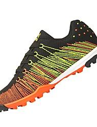 abordables -Mujer Zapatos Red Primavera Otoño Suelas con luz Zapatillas de Atletismo Fútbol Tacón Plano Dedo redondo Con Cordón para Deportivo Al