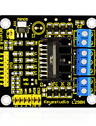cheap -Keyestudio New L298N Shield Dual H Bridge DC Stepper Drive Controller Board Module for Arduino Smart Car Robot