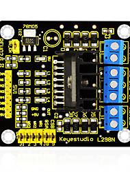 Недорогие -Keyestudio new l298n shield dual h bridge dc шаговый модуль контроллера контроллера для интеллектуального автомобильного робота arduino