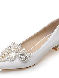 Women's Wedding Shoes Flower Girl Shoes Novelty Basic Pump Spring Fall Customized Materials Microfibre Wedding Party & Evening Dress