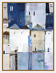 preiswerte -Landschaft Retro Freizeit Geramtes Ölgemälde Wandkunst,Polystyren Stoff Mit Feld For Haus Dekoration Rand Kunst Wohnzimmer Esszimmer