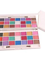 preiswerte -4 Lidschattenpalette Matt Schimmer Lidschatten-Palette Puder Alltag Make-up Smokey Makeup