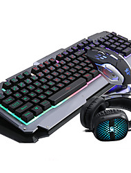 cheap -RUYINIAO Keyboard Mouse Headset Backlit Gaming Suit 104Keys Adjustment DPI Have MIC USB Prots