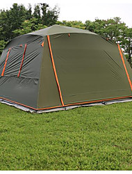 cheap -5-8 persons Tent Single Camping Tent One Room Fold Tent Waterproof Windproof Sunscreen Sun Protection Anti-tear for Camping / Hiking