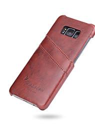 preiswerte -Hülle Für Samsung Galaxy S8 Plus S8 Kreditkartenfächer Rückseitenabdeckung Volltonfarbe Hart Kunst-Leder für S8 S8 Plus S7 edge S7