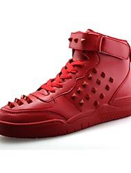 Masculino sapatos Pele Napa Primavera Outono Conforto Solados com Luzes Tênis Para Casual Branco Preto Vermelho