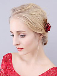preiswerte -Korbwaren Künstliche Perle Aleación Blumen Haar-Stock Haar-Werkzeug Kopfschmuck