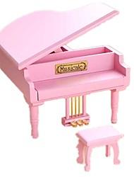 abordables -Boîte à musique Jouets Articles d'ameublement Piano Bois Pièces Unisexe Anniversaire Cadeau