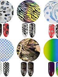 cheap -1pcs 100*4cm Nail Art Glitter Transfer Foils Sticker Colorful Design Nail DIY Foils Glue Adhesive DIY Manicure Styling Tools STZXK84-89