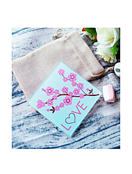 Cherry Blossom Love Glass Coaster in Burlap Bag DIY Party Favors Beter Gifts® Life Style