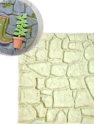 Dry Wall Silicone Mold Castle Stone Bark Cake Tools Fondant Cake Molds Cupcake Mould Chocolate Kitchen Accessories Random Color