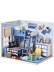 Kit Faça Você Mesmo Brinquedos Construções Famosas Casa Arquitetura Madeira Peças Feminino Aniversário Dom