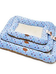 preiswerte -Hund Betten Haustiere Matten & Polster Punkt Abdruck / Paw Weich Waschbar Blau Rosa Für Haustiere