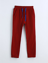baratos -Para Meninos Calças Sólido Primavera Outono Algodão Vermelho