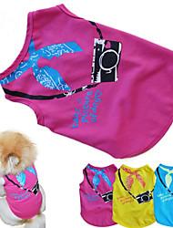 Gato Cachorro Camiseta Roupas para Cães Casual Carta e Número Amarelo Rosa Azul Ocasiões Especiais Para animais de estimação