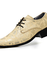 cheap -Men's Formal Shoes Patent Leather Fall / Winter Oxfords Gold / Black / Silver / Party & Evening / Dress Shoes