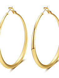 Women's Hoop Earrings Jewelry Bohemian Punk Adjustable Hip-Hop Hypoallergenic Gothic Luxury Oversized Alloy Circle Geometric Jewelry For