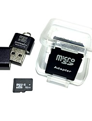 16GB MicroSDHC TF Memory Card with USB Card Reader and SDHC SD Adapter