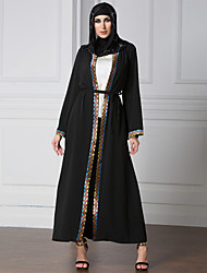 women new Adult Casual Robe Musulmane Turkish Printed Abaya Muslim Dress Cardigan Robes Arab Worship Service Low freight