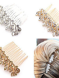cheap -Crystal Alloy Hair Combs Headwear Hair Stick with Floral 1pc Wedding Special Occasion Anniversary Congratulations Office / Career