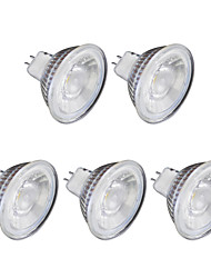 billiga -5pcs 6W 1lm GU10 LED-spotlights MR16 1 LED-pärlor COB Varmvit Kallvit 220V