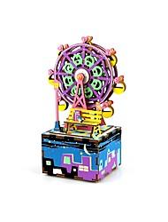 baratos -Quebra-Cabeça Quebra-Cabeças de Madeira Redonda Fonógrafo Desenho Roda gigante Faça Você Mesmo De madeira Composto Crianças Dom