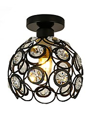 cheap -Vintage Industrial Ceiling Light Glass Iron Crystal Light For Hallway Lights