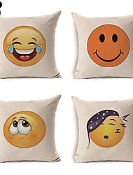 4pcs/set Linen Pattern Other Geometric Pattern Patterned Abstract Grid Cartoon Lovely High Quality Style Halloween Christmas
