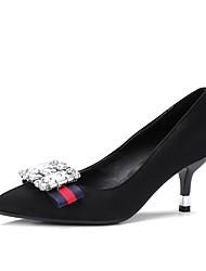 Femme Chaussures à Talons Confort Printemps Automne Polyuréthane Strass Talon Aiguille Noir Jaune Rouge 5 à 7 cm