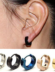 cheap -Men's / Women's Earrings - Stainless Steel Silver / Dark Blue / Rose For Wedding / Party / Office / Career