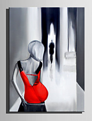 cheap -Oil Painting Hand Painted - People Other Abstract Canvas