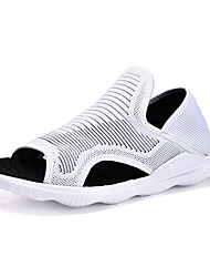 cheap -Men's Shoes PU Canvas Summer Comfort Sandals For Casual Outdoor White Black