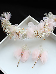 cheap -Tulle / Chiffon / Lace Flowers / Hair Clip with 1 Wedding / Special Occasion / Birthday Headpiece