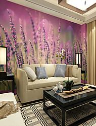 Недорогие -3D Цветы Классика Обои Для дома Современный Пастораль Стиль Облицовка стен , Холст материал Клей требуется фреска , Обои для дома