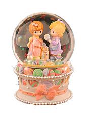 baratos -Bolas Caixa de música Brinquedos Redonda Cristal 1 Peças Feminino Aniversário Dom