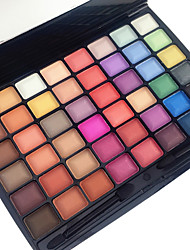preiswerte -48 Color in 1 Palette, 3 Color Palette Select Lidschattenpalette Trocken Matt Schimmer Lidschatten-Palette Puder Alltag Make-up Halloween