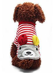 Собака Толстовка Одежда для собак На каждый день Кролик Красный Синий